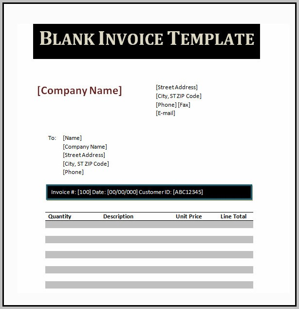 Create An Invoice In Word