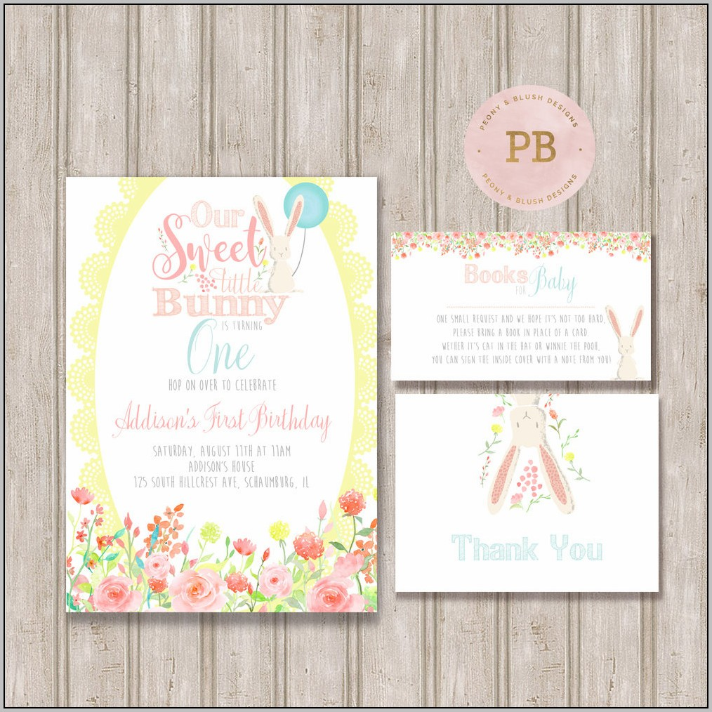 Easter Baby Shower Invitations