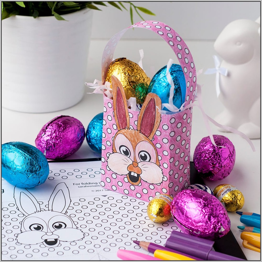 Easter Bag Template