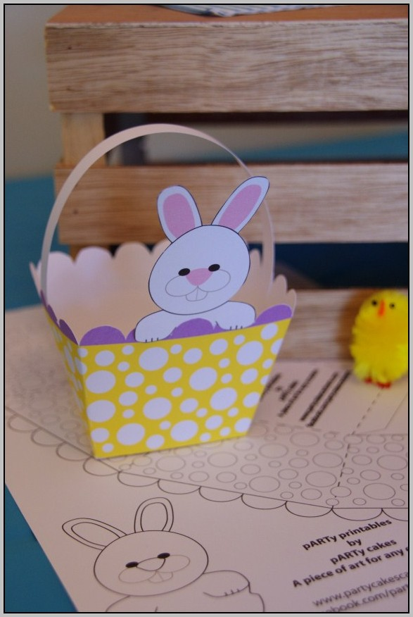 Easter Basket Template Free