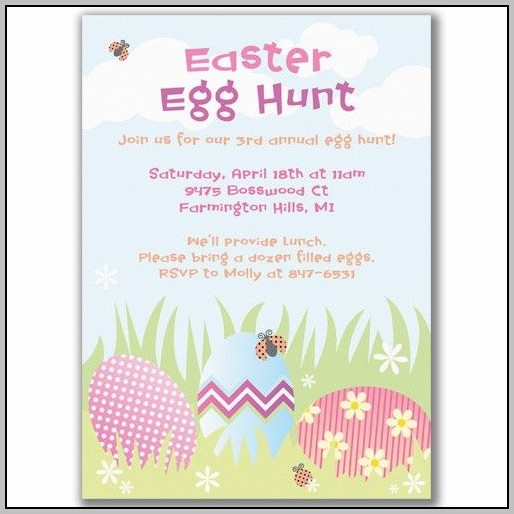 Easter Birthday Invitation Templates