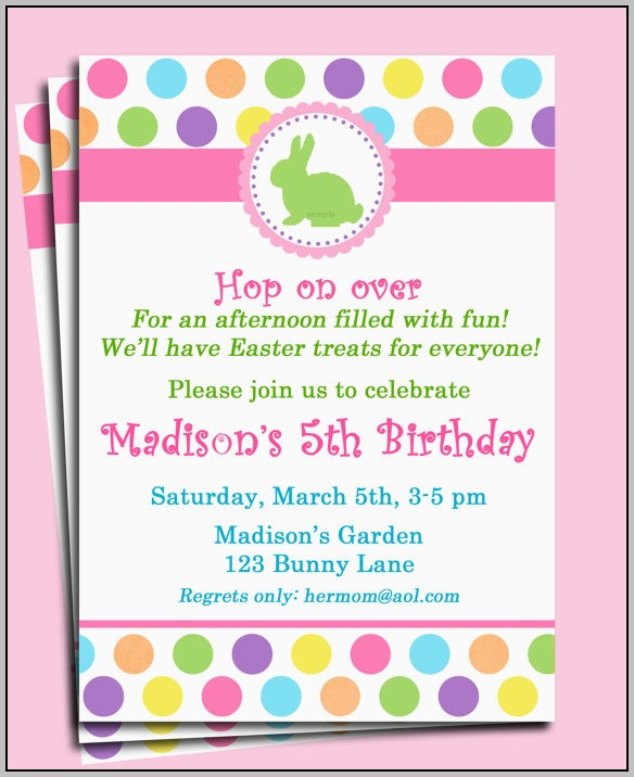 Easter Birthday Invitation Wording
