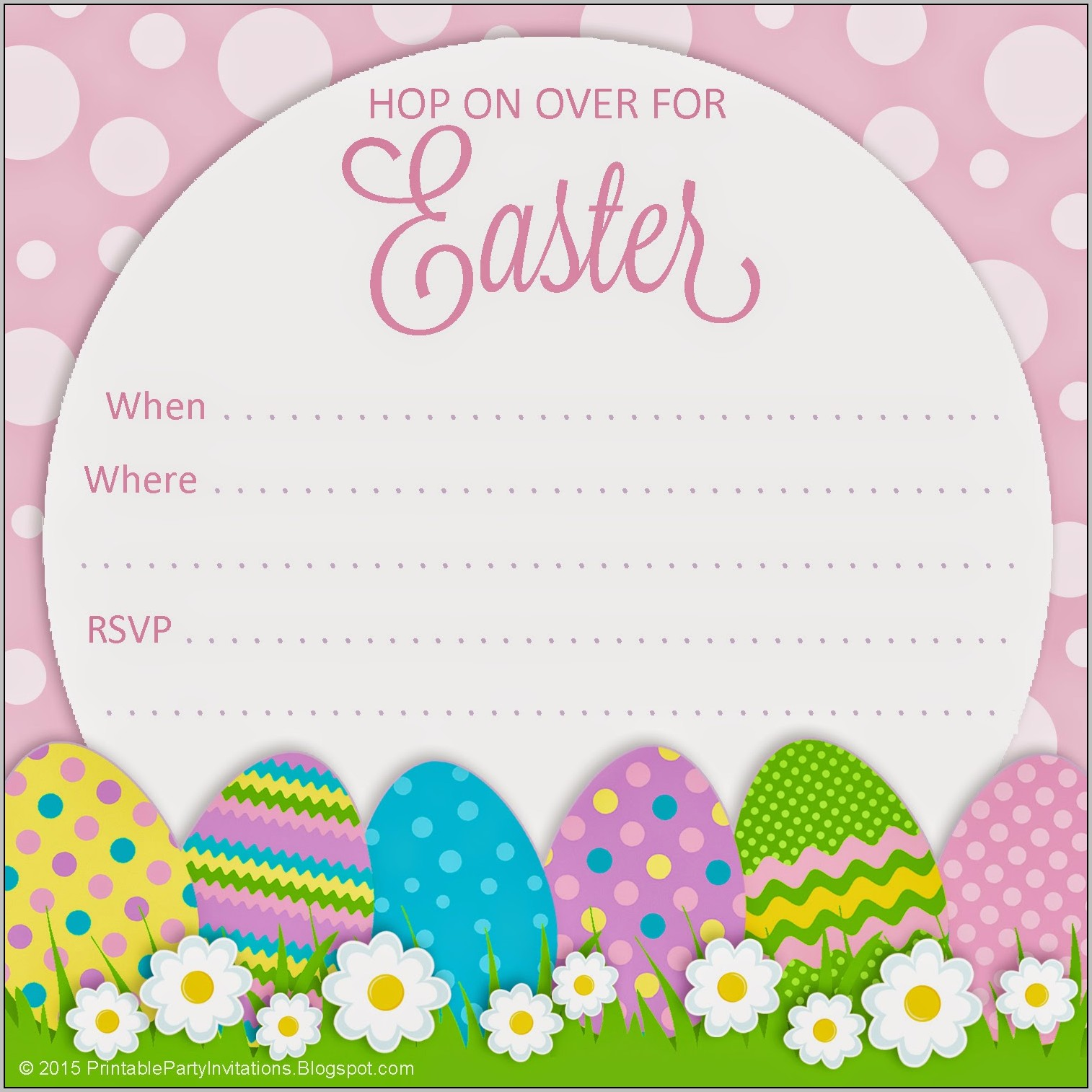 Easter Birthday Invitations Printable