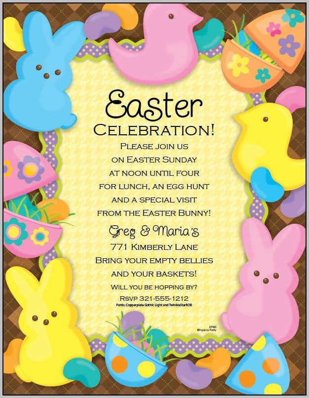 Easter Brunch Invitation Wording