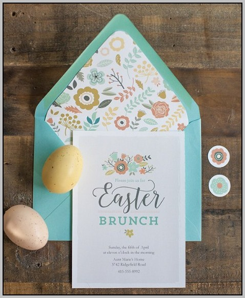 Easter Brunch Invitations Free