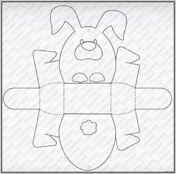 Easter Bunny Basket Template