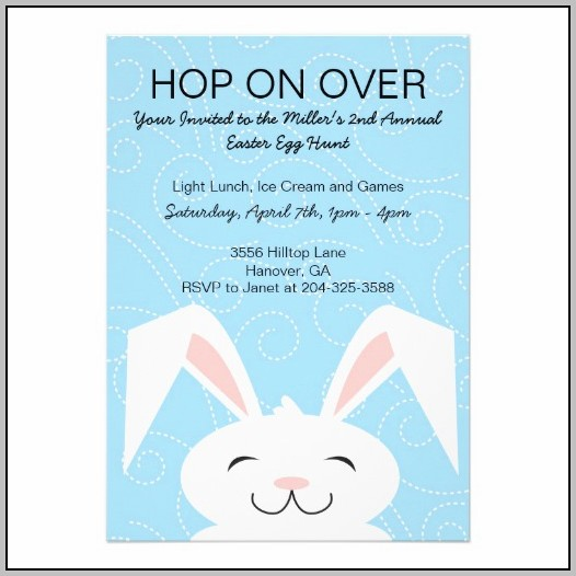Easter Bunny Birthday Invitations