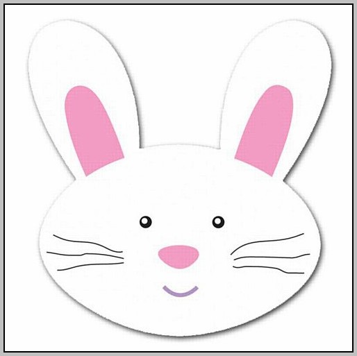 Easter Bunny Cut Out Template