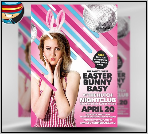 Easter Bunny Flyer Template