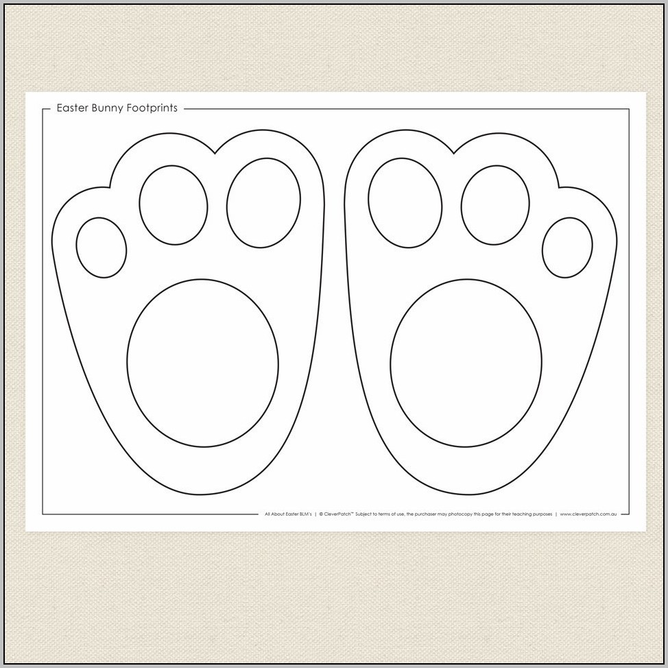 Easter Bunny Footprint Template