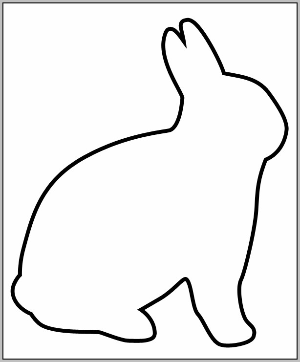 Easter Bunny Outline Template