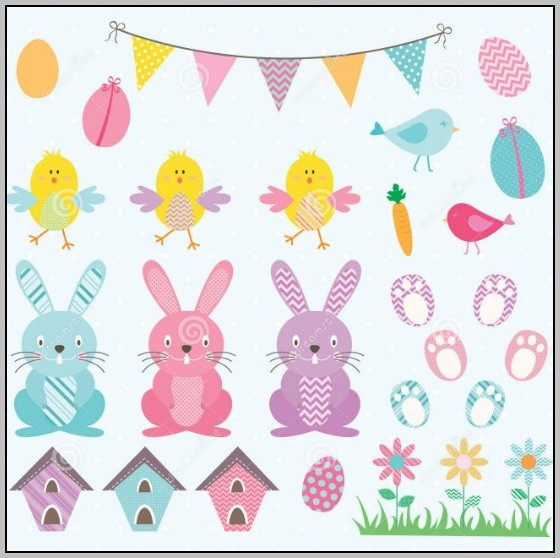 Easter Bunting Template