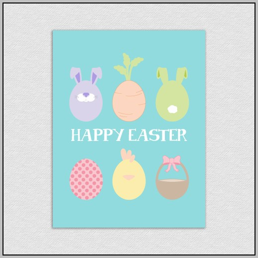 Easter Card Print Out