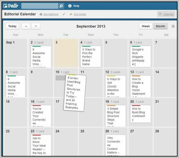 Add Calendar To Trello