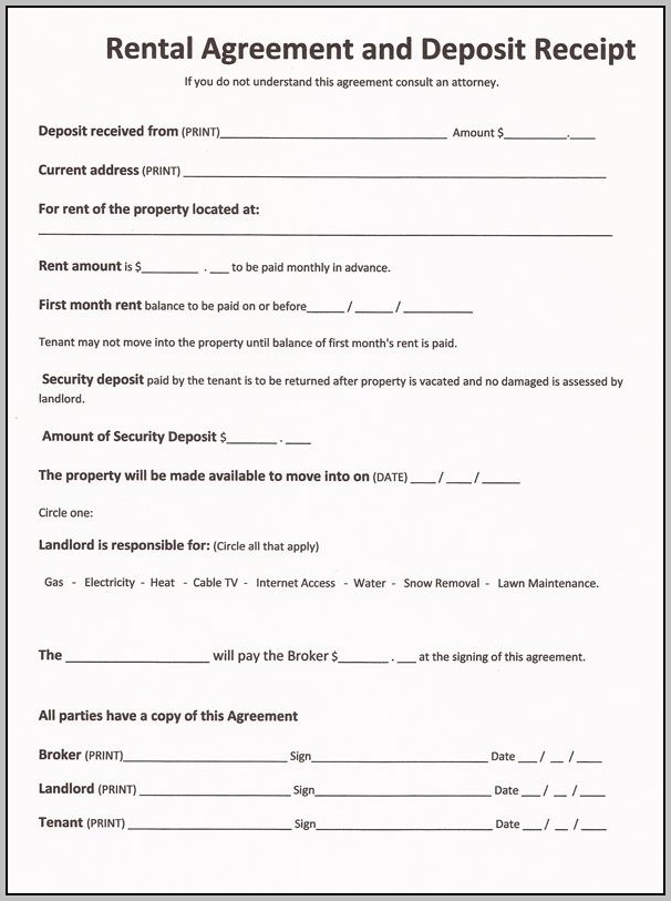 Agreement Paper For House Rent