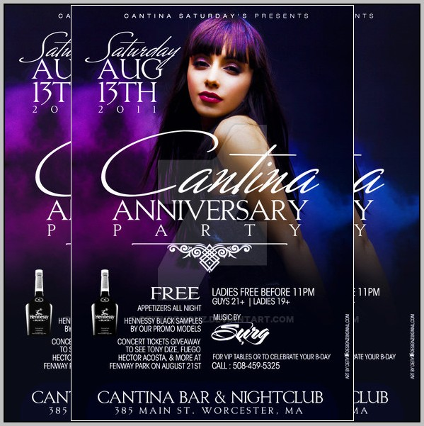Anniversary Flyer Template Free