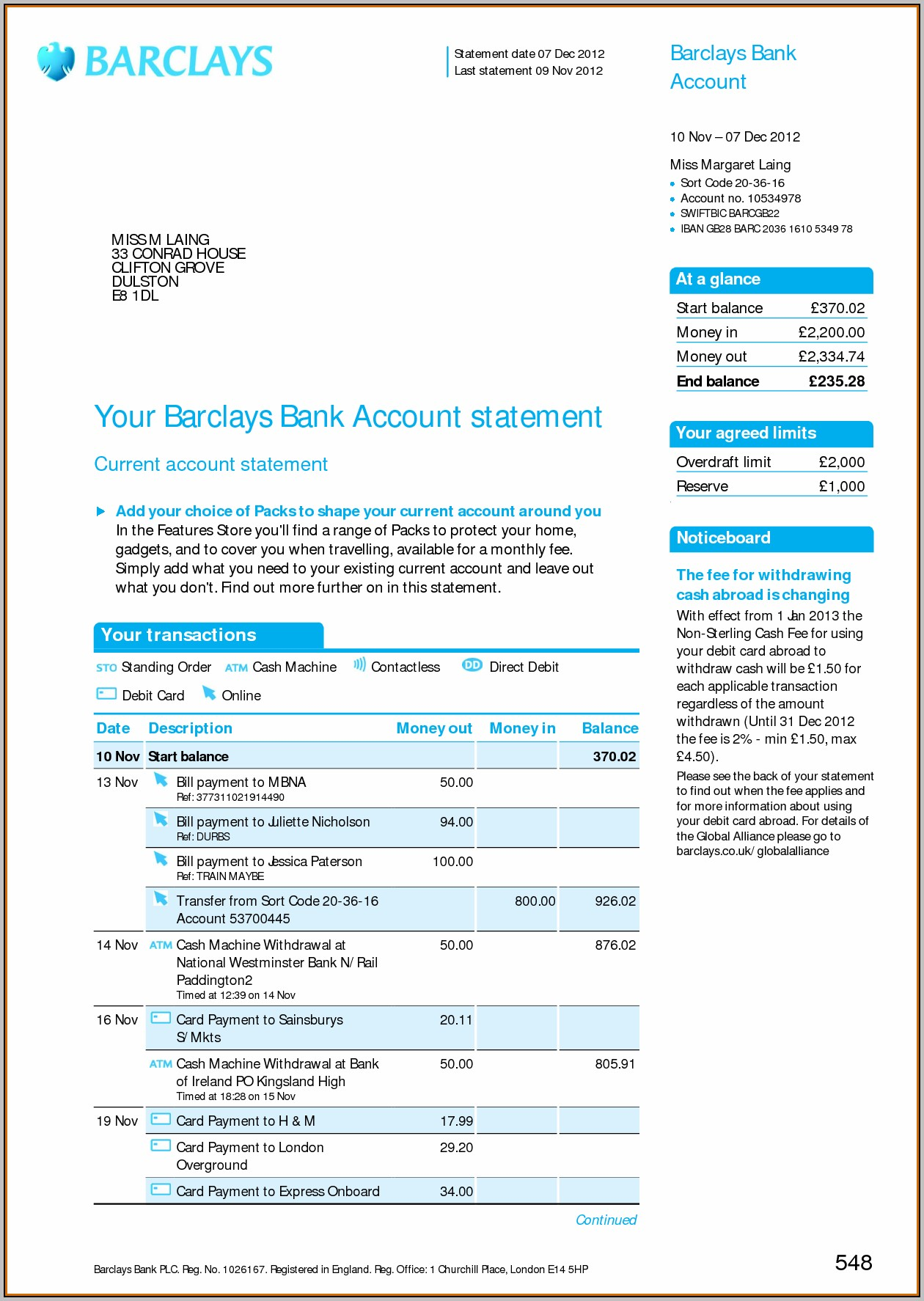 Barclays Business Plan Template