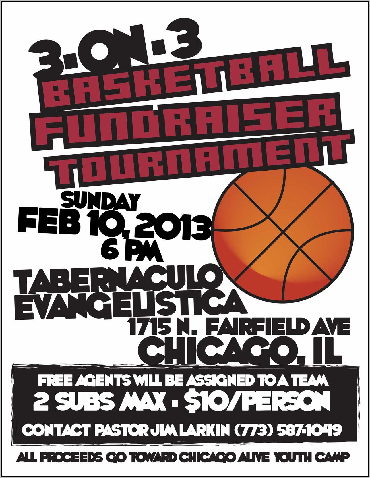 Basketball Fundraiser Flyer Template