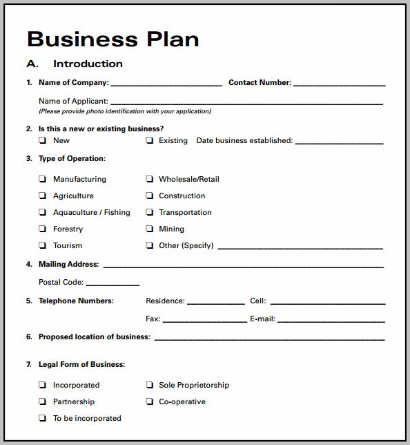 B&b Business Plan