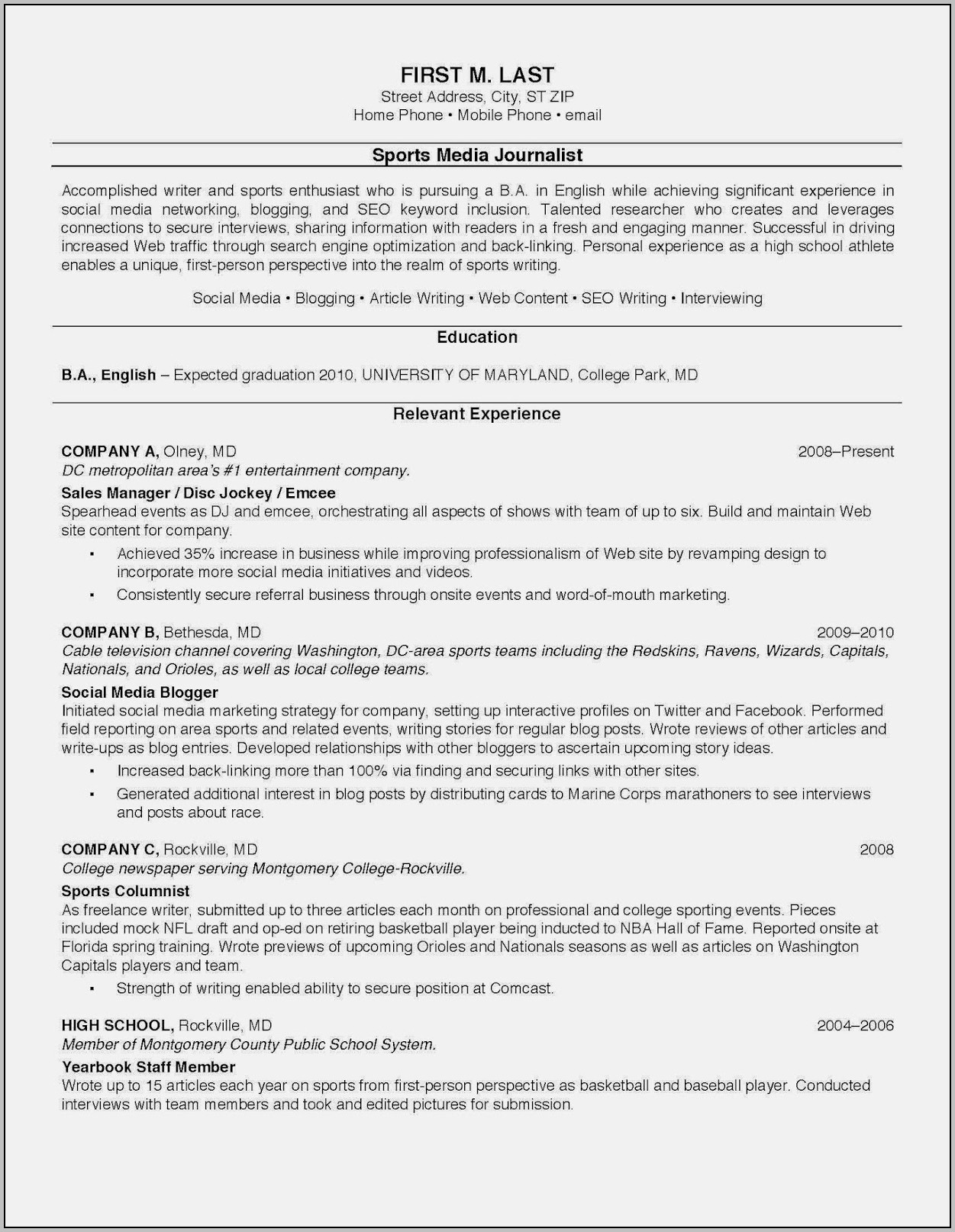 Best College Resume Templates
