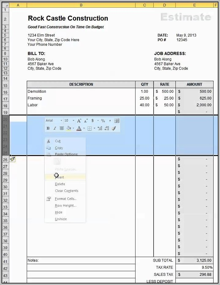 Building Construction Accounting Software Excel