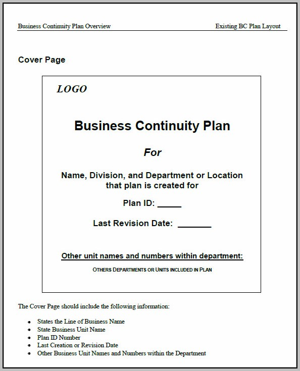 Business Continuity Plan Sample