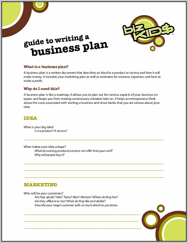 Business Plan For Children