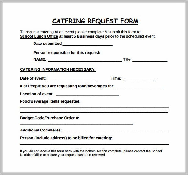 Catering Event Template