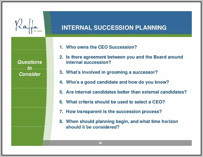 Ceo Succession Planning Process
