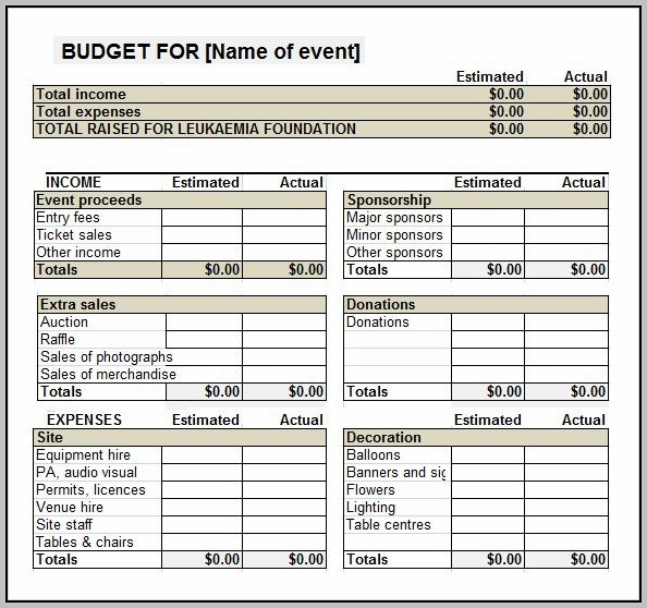 Charity Event Planning Template