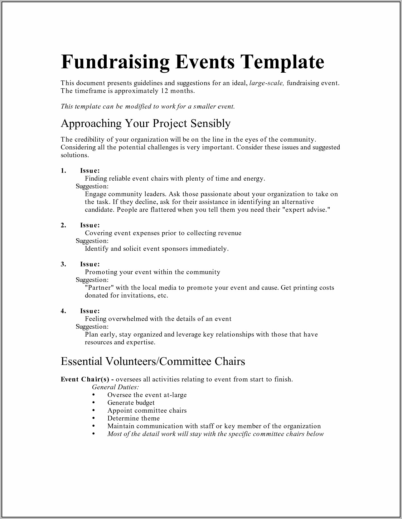 Charity Event Program Template