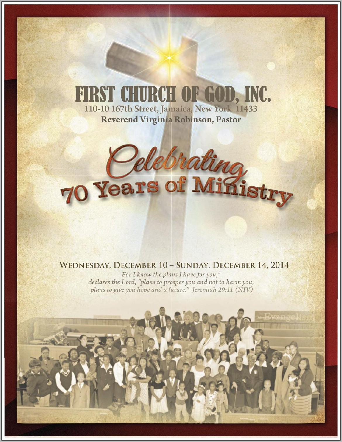 Church Anniversary Bulletin