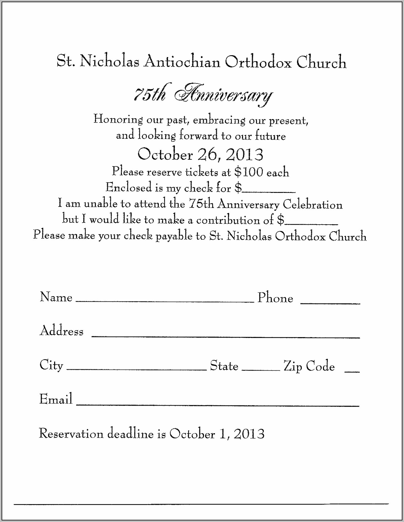 Church Anniversary Invitation Card Format