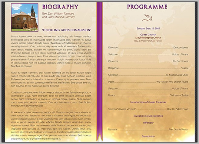 Church Anniversary Program Order Of Service