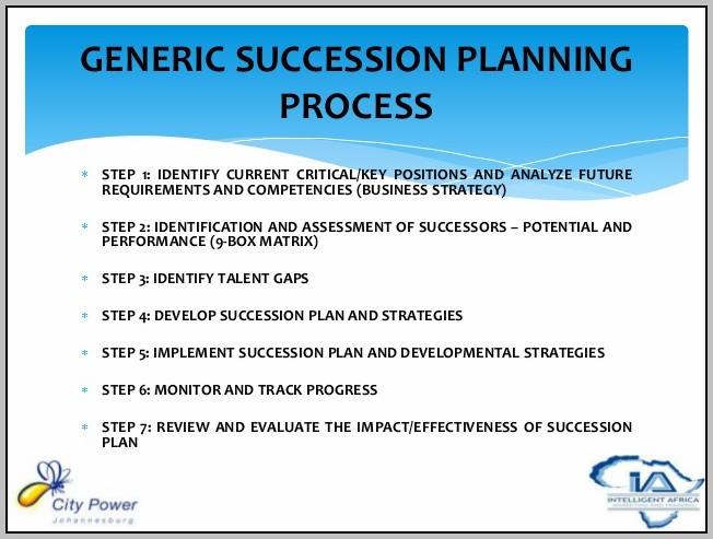 Developing A Succession Plan