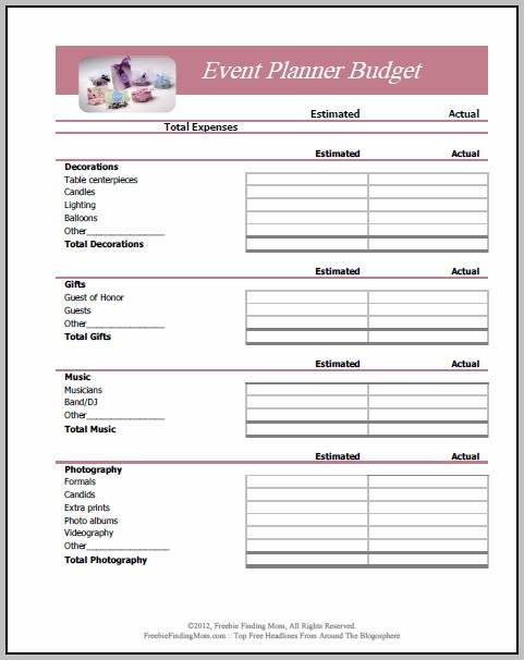 Event Budget Planner