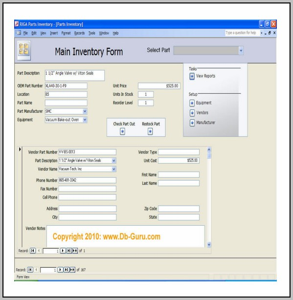 Access Inventory Database Template