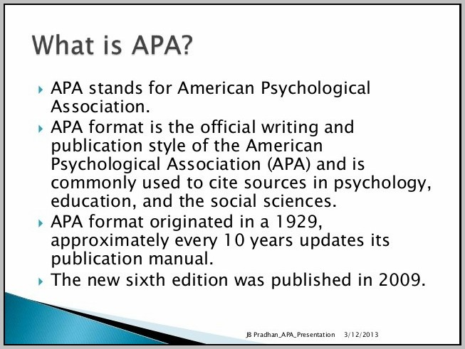American Psychological Association 2009 6th Edition