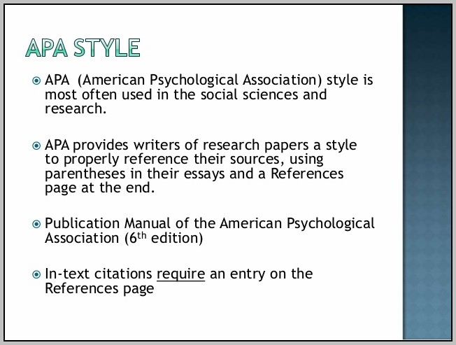 American Psychological Association Format