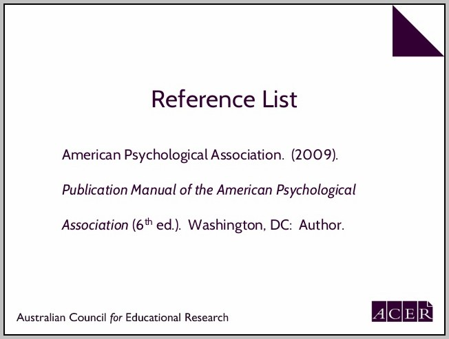American Psychological Association Referencing