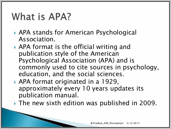 American Psychological Association Style