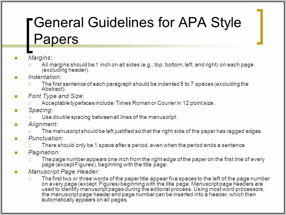 Apa 6 Style Guide