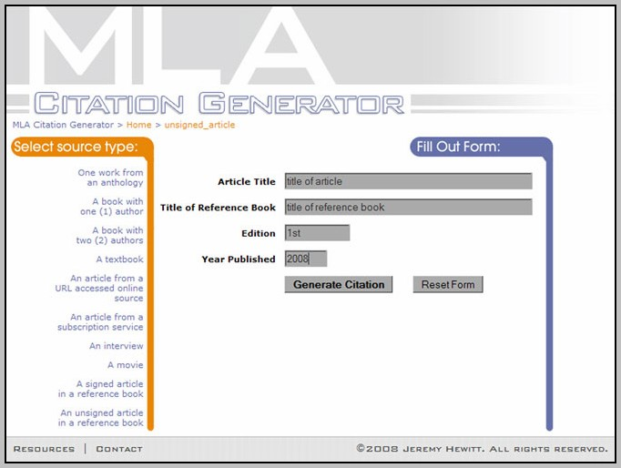 Apa Citation Generator Free