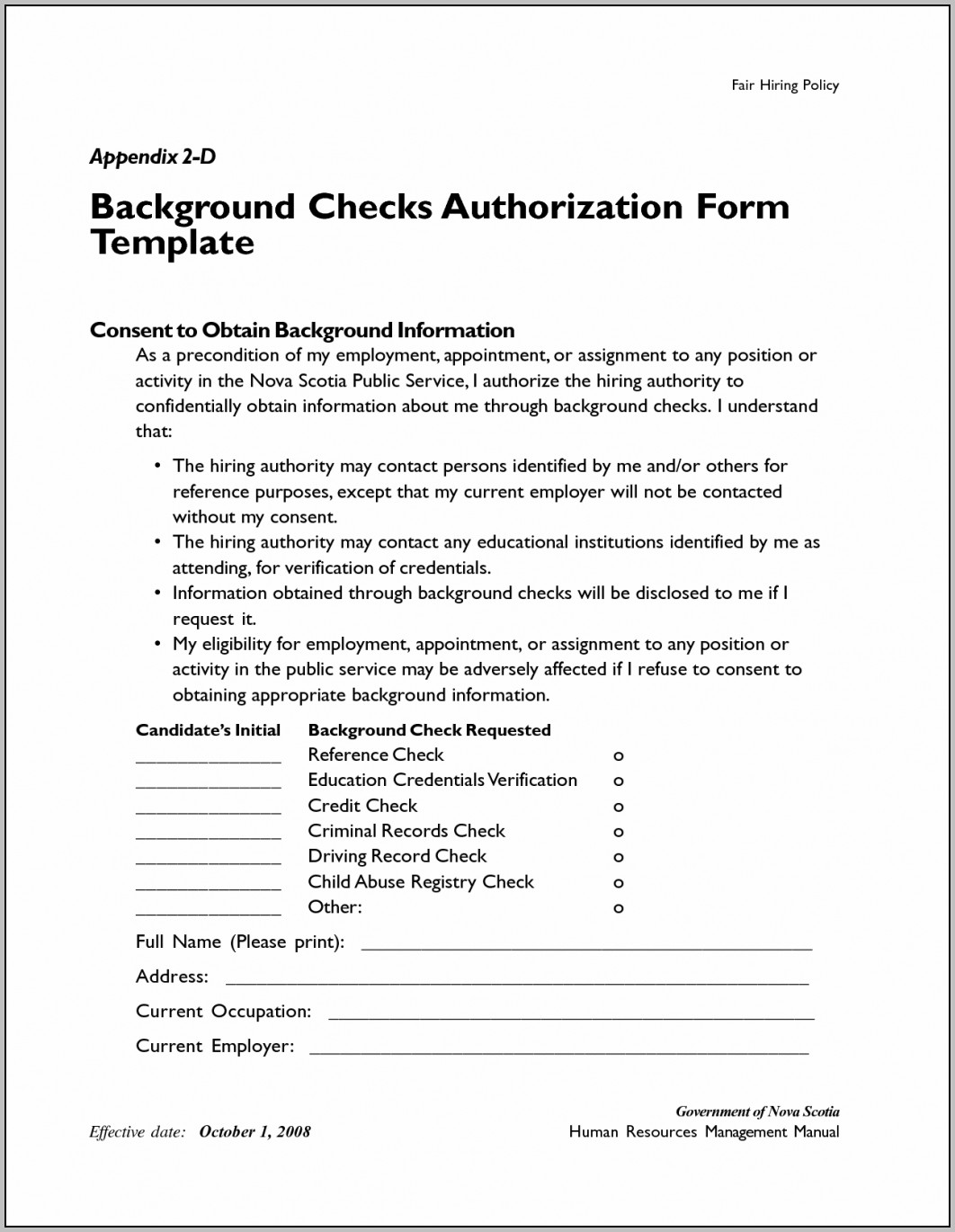 Checks Template Background Check Free Co ~ Vawebs Throughout Background Check Authorization Form Template