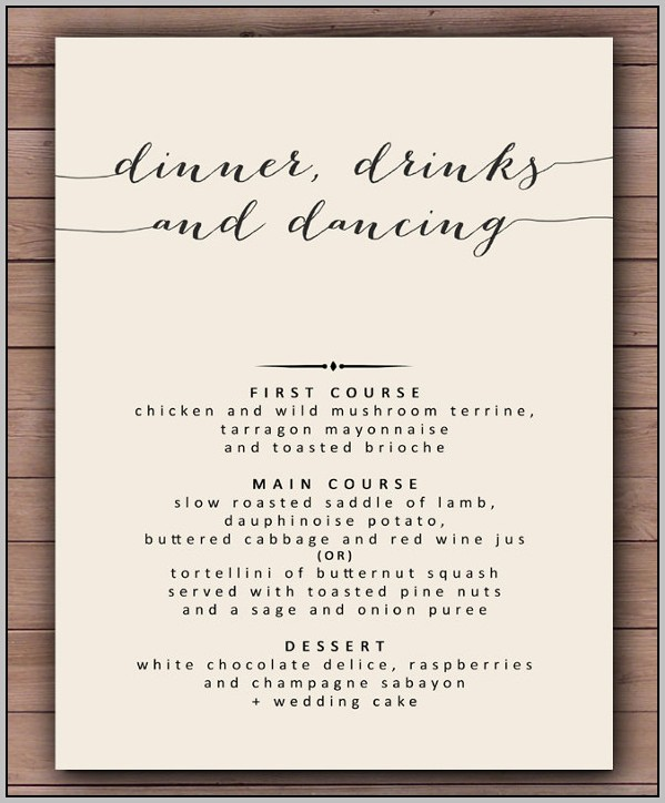 Banquet Menu Template