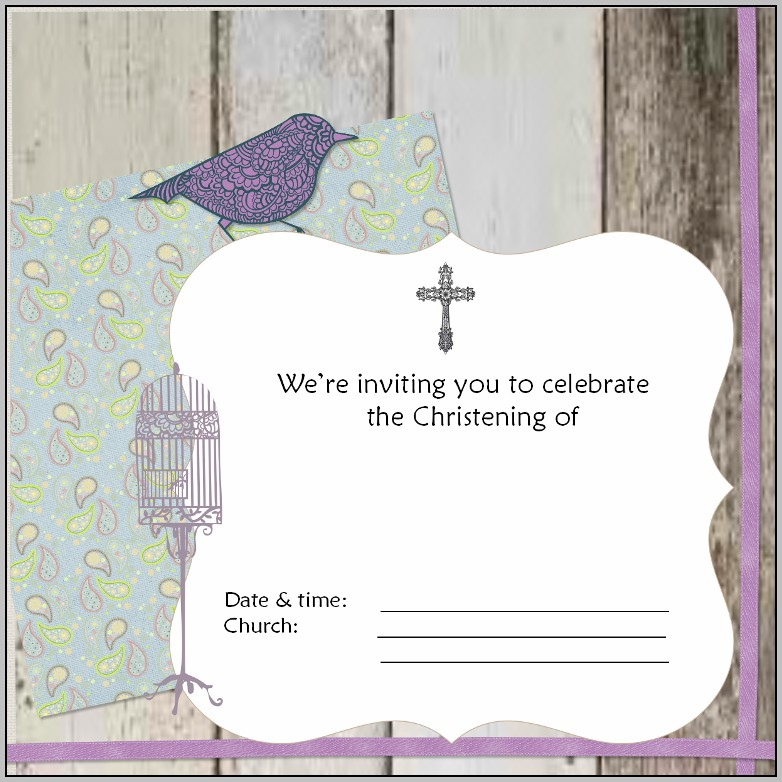 Baptism Invitation Card Template