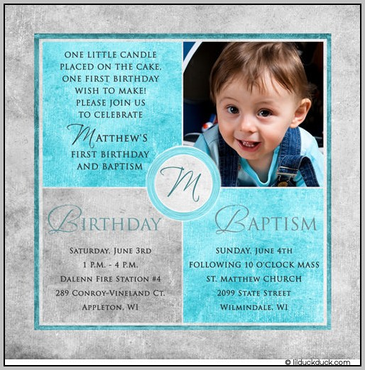 Baptism Party Invitations