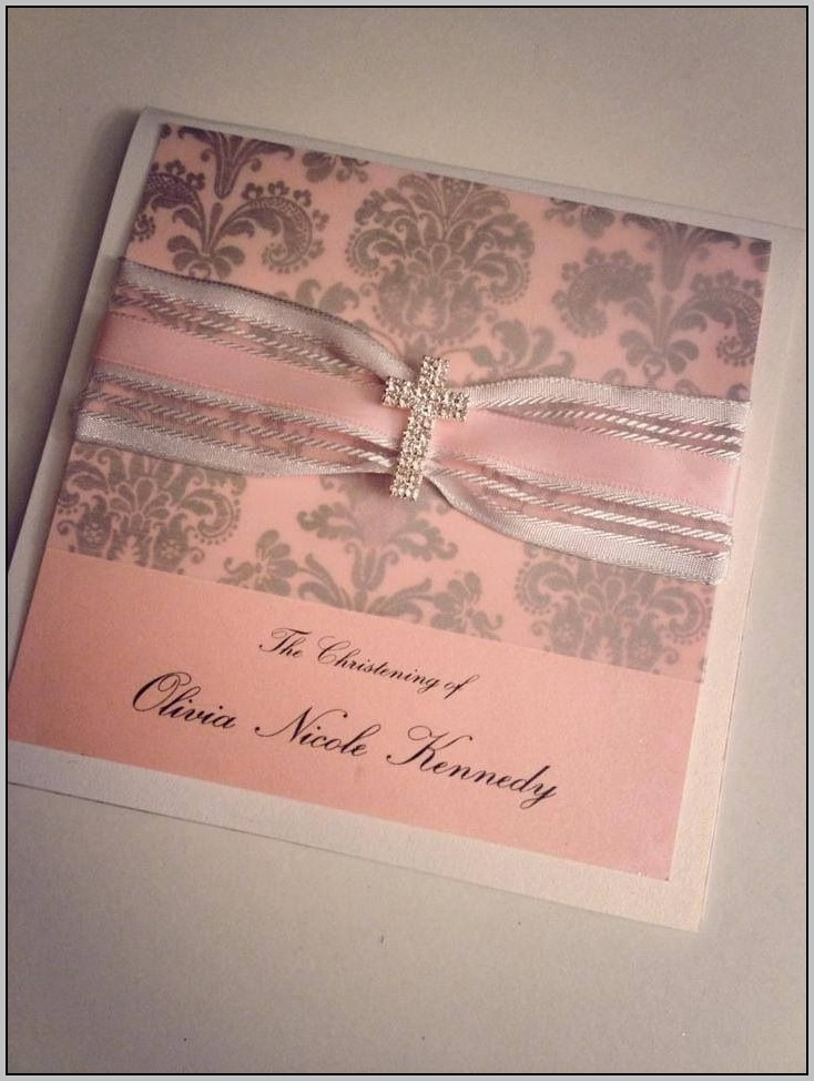 Beautiful Girl Communion Invitations