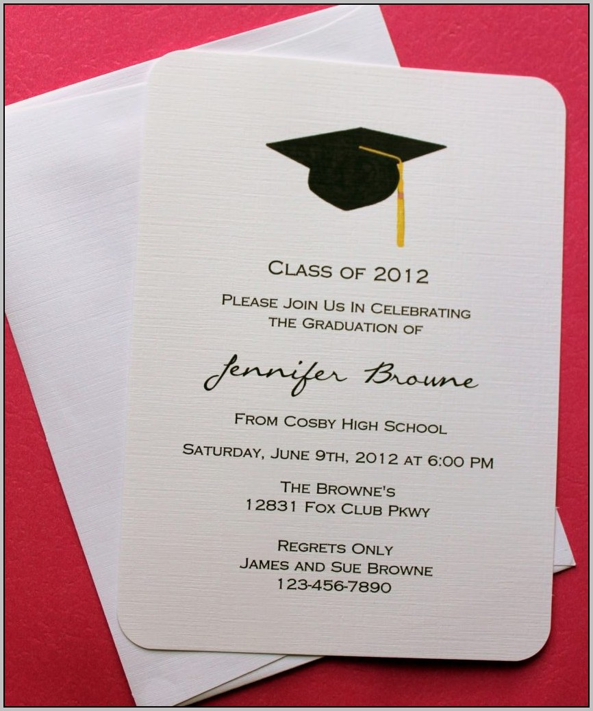 Blank Graduation Invitation Templates