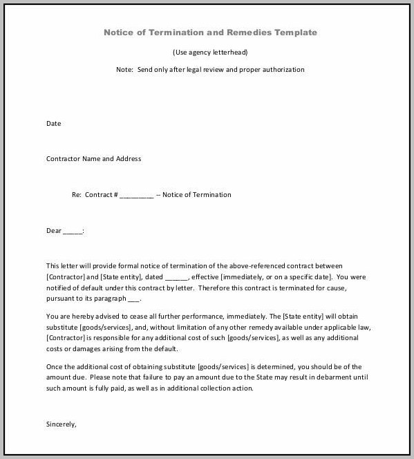 Cancellation Contract Template